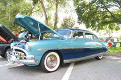 Old Hudson Hornet car. The old Hudson Hornet car at the show Royalty Free Stock Photography
