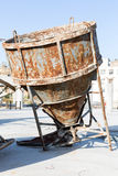 Old huge rusty concrete mixer Royalty Free Stock Photo