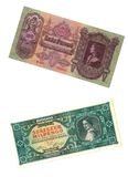 Old Hungarian banknotes. Some banknotes from the old days of Hungary Royalty Free Stock Image