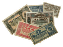 Old Hungarian banknotes Royalty Free Stock Image