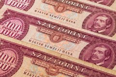 Old Hungarian  banknotes Royalty Free Stock Photos