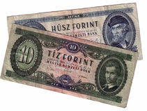 Old hungarian forint Stock Photography