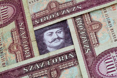 Old Hungarian forints Royalty Free Stock Photos