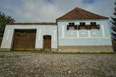 Old hungarian house and street door Royalty Free Stock Photo