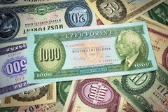 Old hungarian money Stock Image