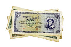 Old Hungarian one million pengo currency isolated Stock Photo