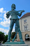 Old Hungarian soldier statue, Budapest, Hungary Royalty Free Stock Images