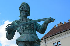Old Hungarian soldier statue, Budapest, Hungary Stock Image