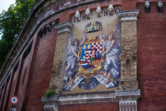 Old Hungary Coat of Arms on a wall Stock Photography