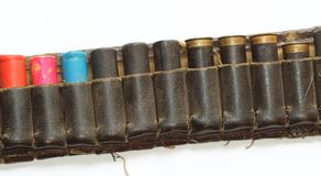 Old hunting cartridge belt Royalty Free Stock Photography
