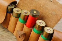 Old hunting cartridges and bandoleer Stock Photography