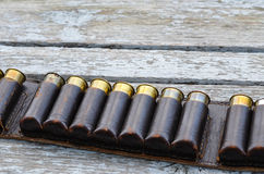 Old hunting cartridges Royalty Free Stock Photo