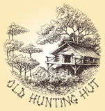 Old hunting hut Stock Image