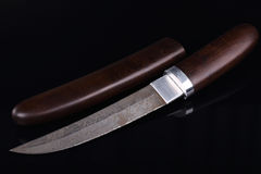 Old hunting knife Stock Photography