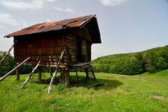Old hunting refuge. Sureanu Mountains Royalty Free Stock Image