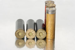 Old hunting shells. A group of old shells for a 12 gauge shotgun Royalty Free Stock Photos