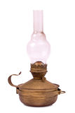 Old hurricane lamp isolated Royalty Free Stock Photos