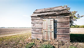 Old hut. At a field near rome - italy Stock Images