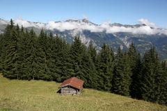 Old hut in the alps, Switzerland Stock Image
