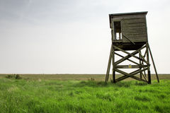 Old hut. Old beach hut or look out tower taken in Bradwell-on-Sea in essex england Stock Photography