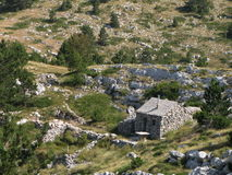 Old hut in Biokovo mountains Stock Photography