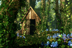 The Old Hut, 3d Computer Graphics Stock Images