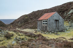 An old hut. On a hill in Scotland Stock Photography