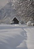 Old hut in winter Royalty Free Stock Images