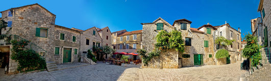 Old Hvar island stone town Stock Photo
