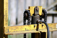 Old hydraulic lift for forklift Royalty Free Stock Photography