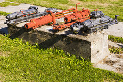 Old hydraulic mining equipment Stock Photo