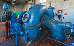Old hydraulic turbine Royalty Free Stock Photography