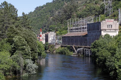 Old hydroelectric facilities Stock Image