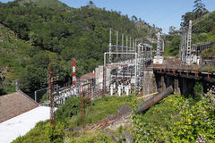 Old hydroelectric facilities Royalty Free Stock Photos