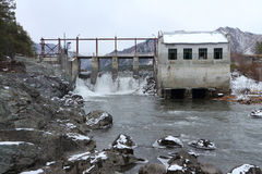 The old hydroelectric power station Royalty Free Stock Photo