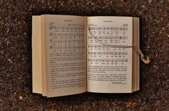 Old hymn book Stock Photo