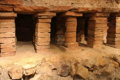 Old hypocaust in Vienna, Austria Royalty Free Stock Images