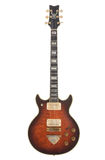 Old Ibanez rock guitar. Isolated on white Royalty Free Stock Photography