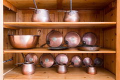Old ibriks and pans Stock Photography