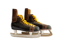 Old ice skates Stock Images