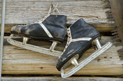 Old ice skates Royalty Free Stock Image
