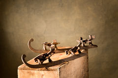 Old ice-skates Stock Photography