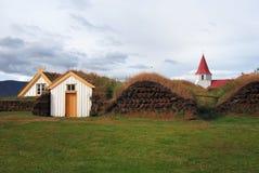 Old Iceland. Iceland - Historical museum at Glaumbaer Royalty Free Stock Photography