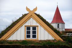 Old Iceland. Iceland - Historical museum at Glaumbaer Royalty Free Stock Photos