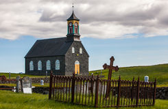 Old Iceland church and cemetery Royalty Free Stock Photo