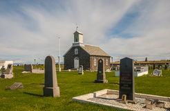 Old Iceland church and cemetery Stock Images