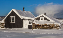 Old Icelandic House Stock Photography