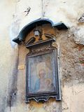 Old Icon, Madonna and Child, Florence, Italy Stock Photography