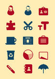 Old icon set. Vector eps icon set for web or app Stock Image