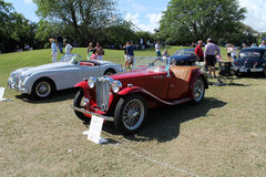 Old iconic mg tc british sports car Royalty Free Stock Photo